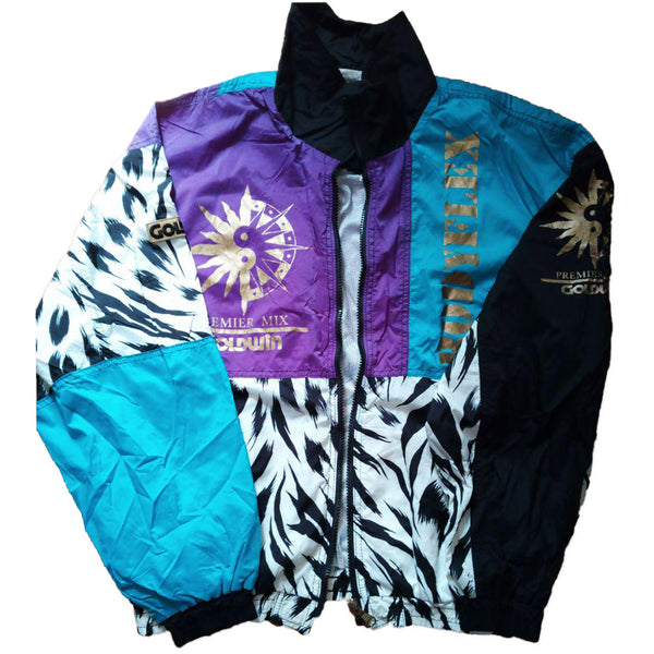 Goldwin Premier Mix Purple, Blue, and Zebra Striped Jacket
