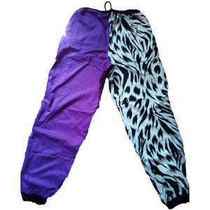 Goldwin Premier Mix Purple, Blue, and Zebra Striped Pants