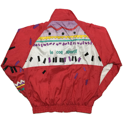 Le Coq Sportif Red and Vintage Detail Track Jacket