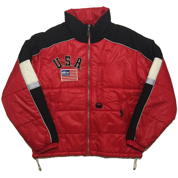 Cosby USA Red, Black and White Accent Jacket