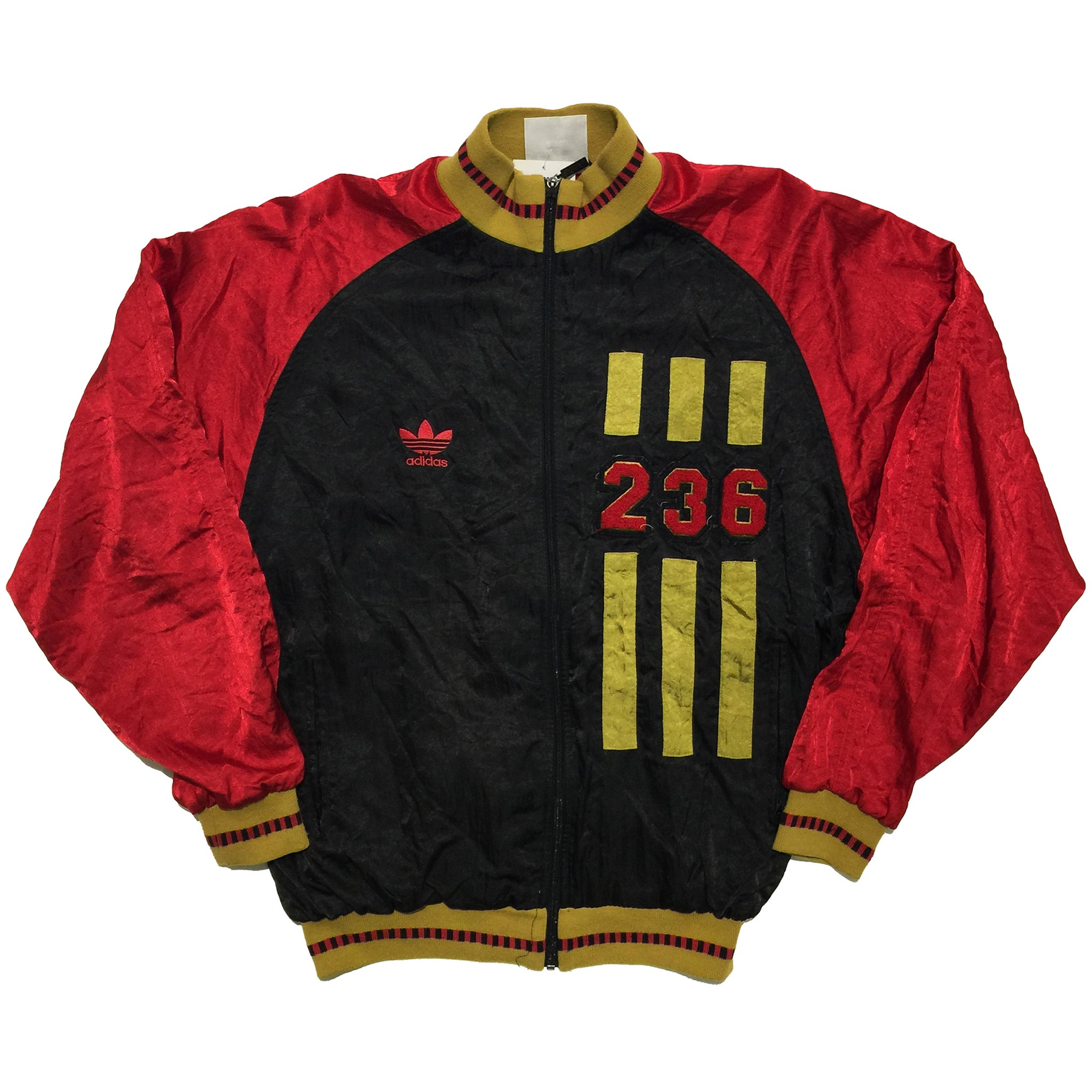 Adidas Red Black and Brown 236 Track Jacket