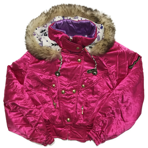 Ellesse Hot Pink Jacket with Fur Hood