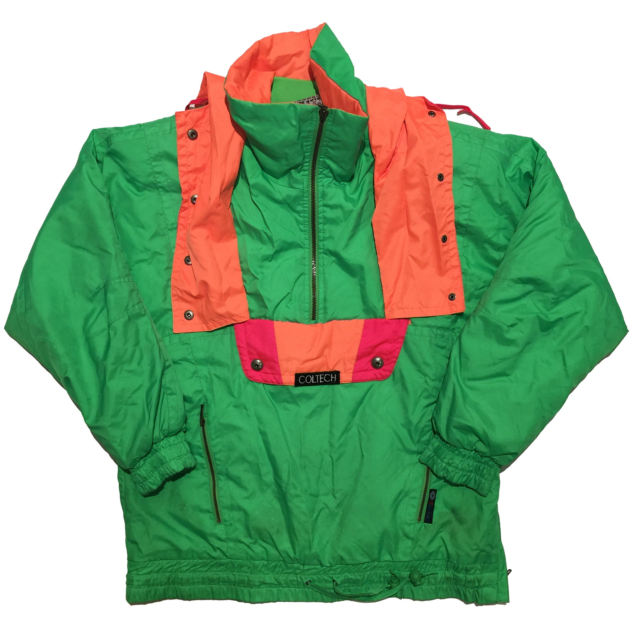 Coltech Green, Orange and Red Accent Half Zip Jacket