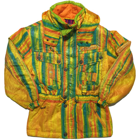 Ellesse Speed And Trip Orange and Green Striped Jacket