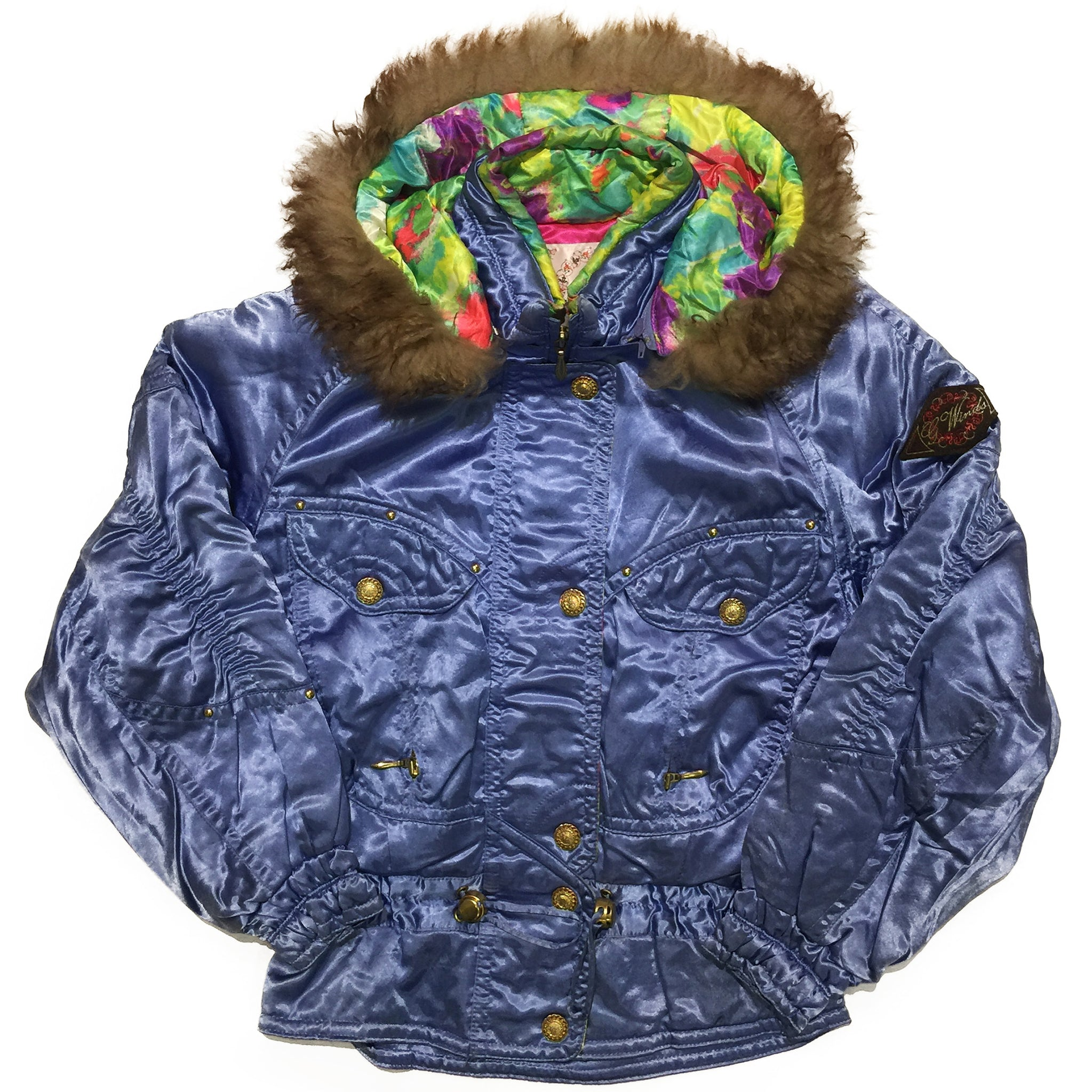 Goldwin Sky Blue Jacket with Fur Hood
