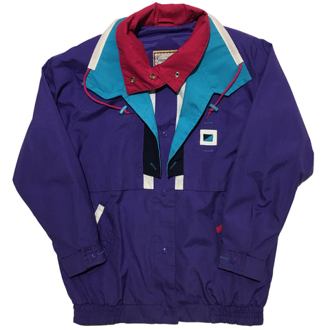 Current Seen Purple Cyan and Red Jacket