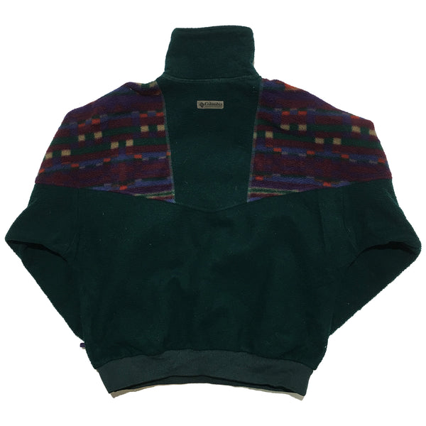 Columbia Green and Pattern Fleece Jacket