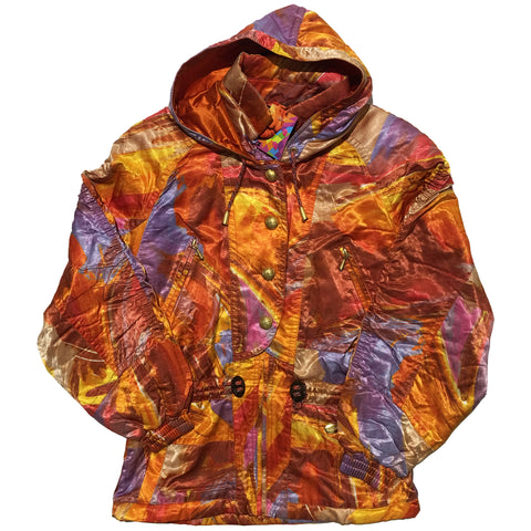 Evanova Orange and Purple Abstract Jacket