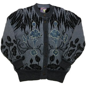 New Wang Kang Co Fleece Acrylic Embellished Jacket