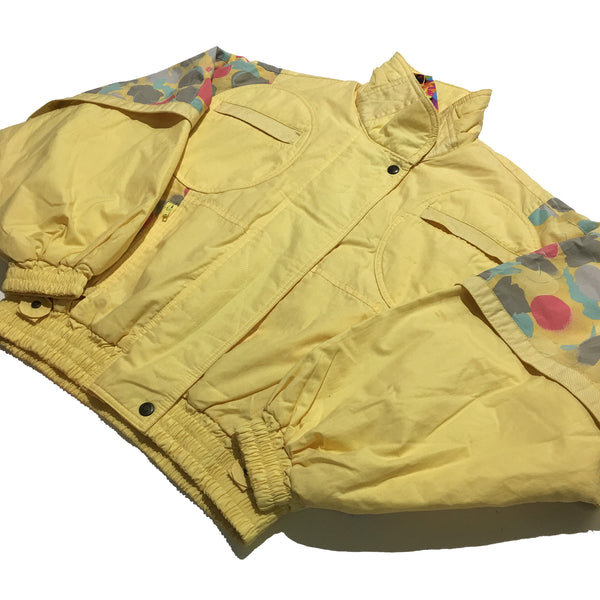 Lanatura Pale Yellow and Pattern Shoulders Jacket