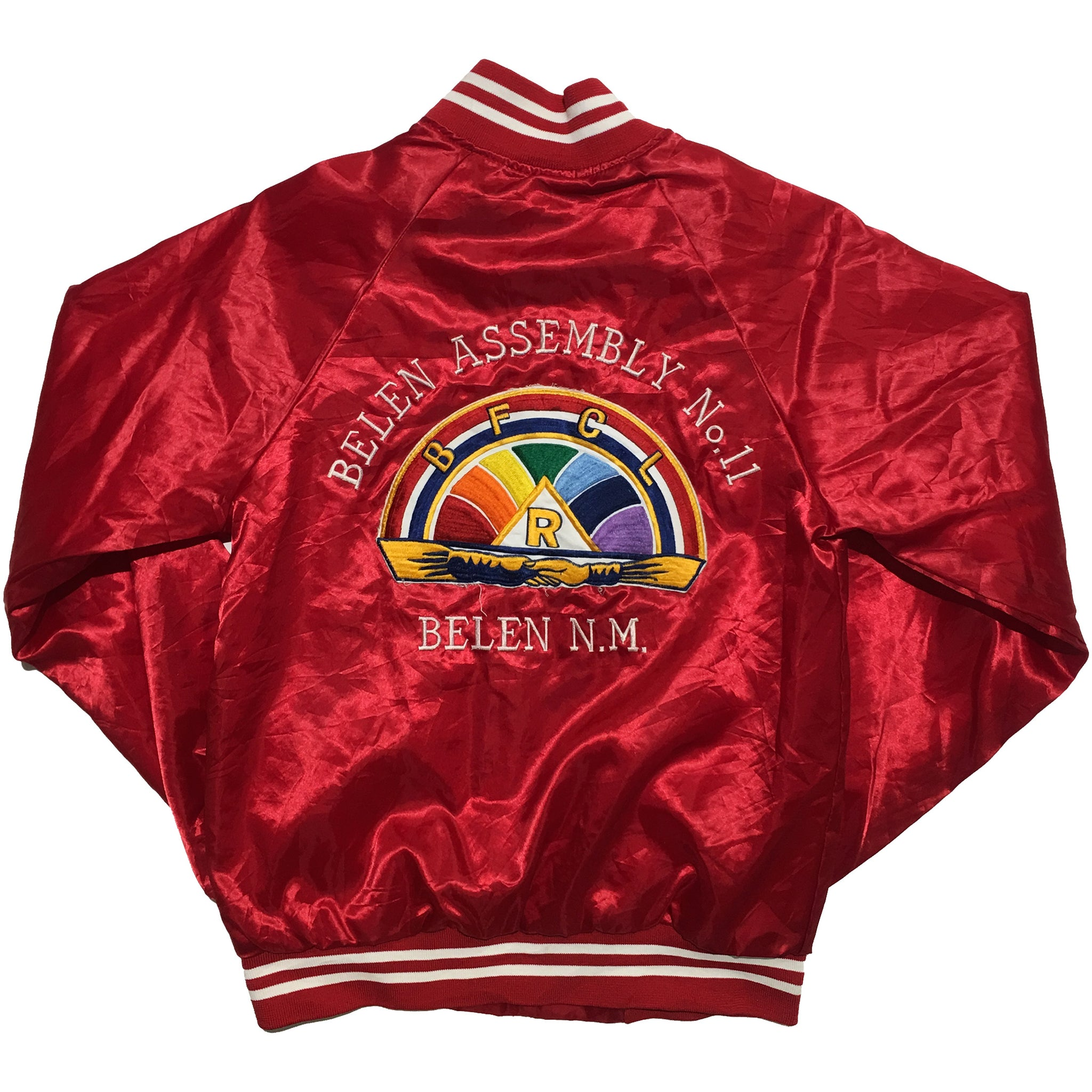 Hartwell Belen Assembly Embroidered Red Varsity Jacket
