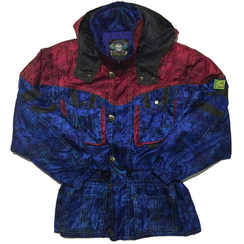 Fablice Blue and Maroon Jacket