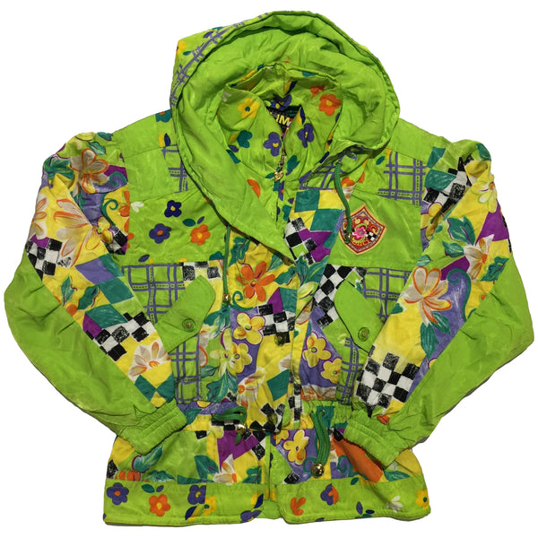 Senti Green, Floral, and Checkered Jacket