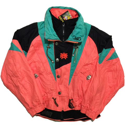 Asics Pink and Teal Jacket