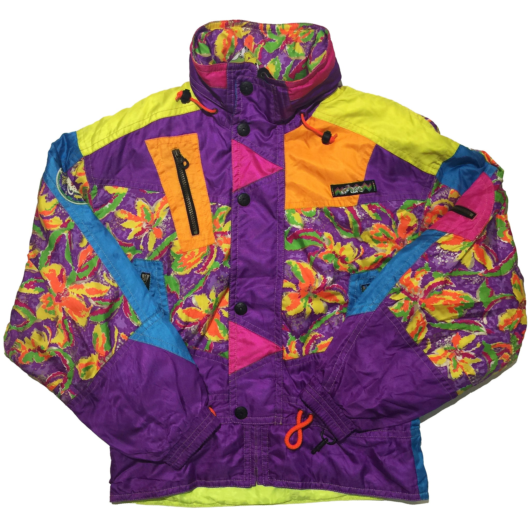 "Asics ""Colorific"" Floral Pattern Jacket"
