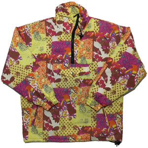 Etirel Pink, Orange, Yellow Floral Pattern Jacket