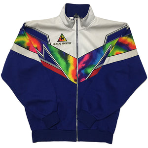 Le Coq Sportif Blue, Rainbow, and White Track Jacket