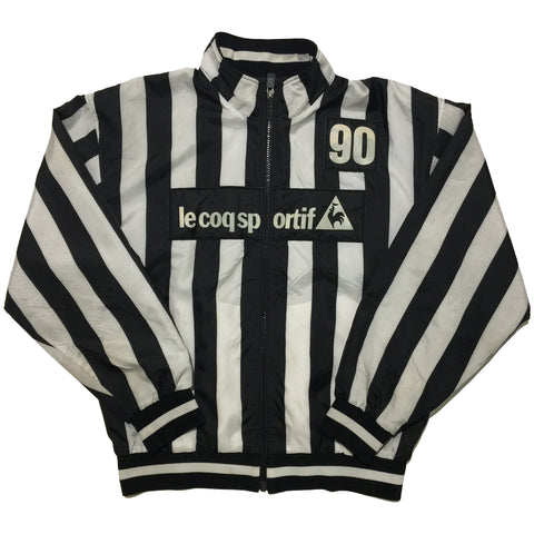 Le Coq Sportif Black, White Striped Jacket