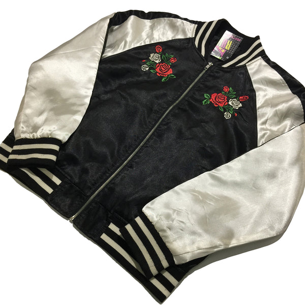 Roses Embroidered Black, White Jacket