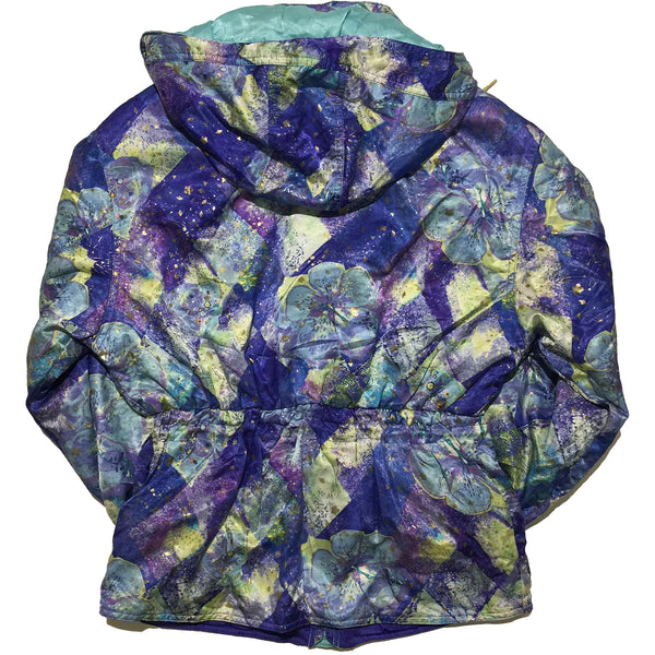 Phenix Blue Floral Pattern Jacket