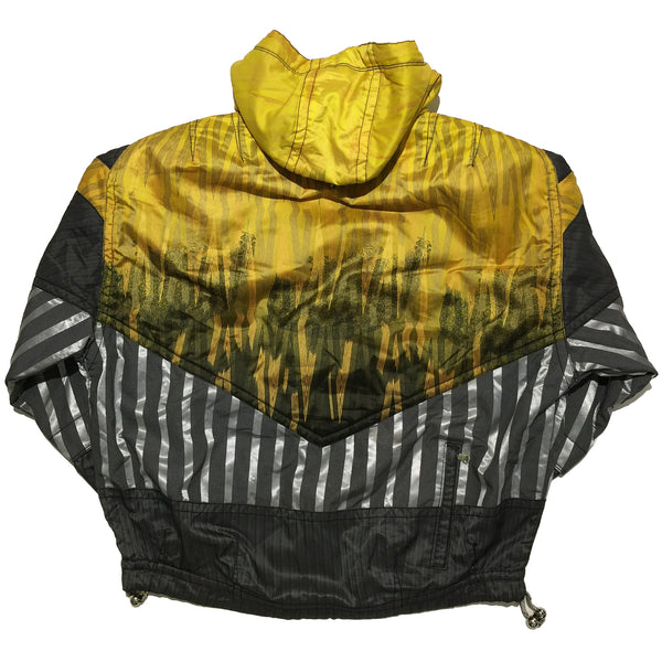 Salomon Yellow, Black and Silver Striped Jacket