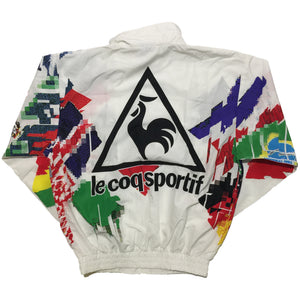 Le Coq Sportif Flag Glitch White Jacket