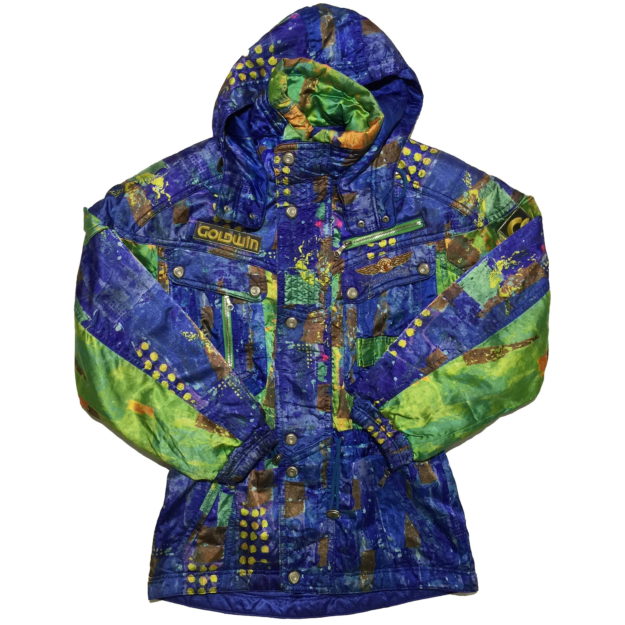 Goldwin Blue, Green, Yellow Dot Pattern Jacket