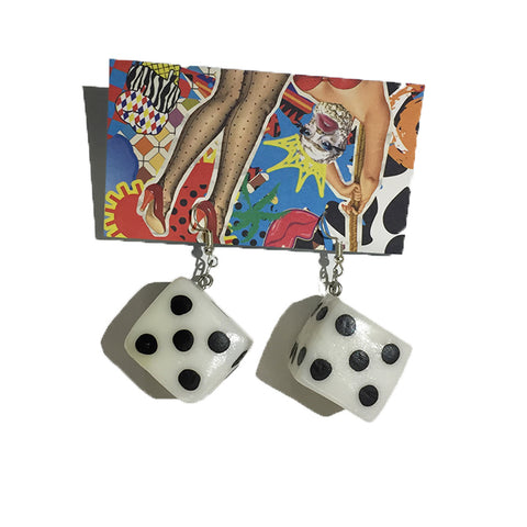 Lucky Dice Earrings by King of Hearts
