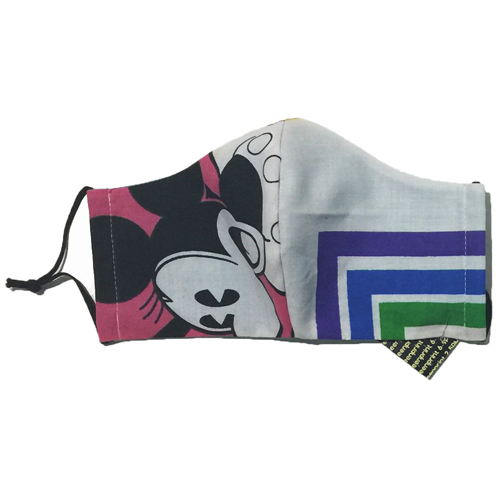 Minnie Mouse/Purple, Blue, Green Line Face Mask