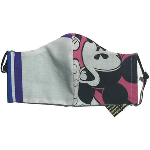 Blue Line/Minnie Mouse Face Mask