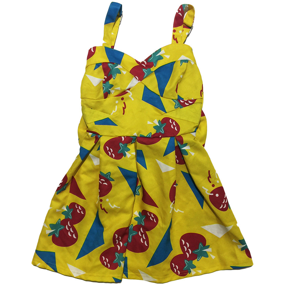Vintage Galaxxxy Yellow Strawberry Dress
