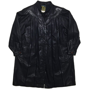 Black Leather Coat Jacket