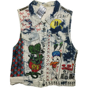 Hand Customized Denim Vest