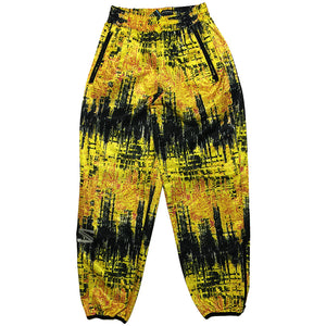 Salomon Yellow and Black Track Pants