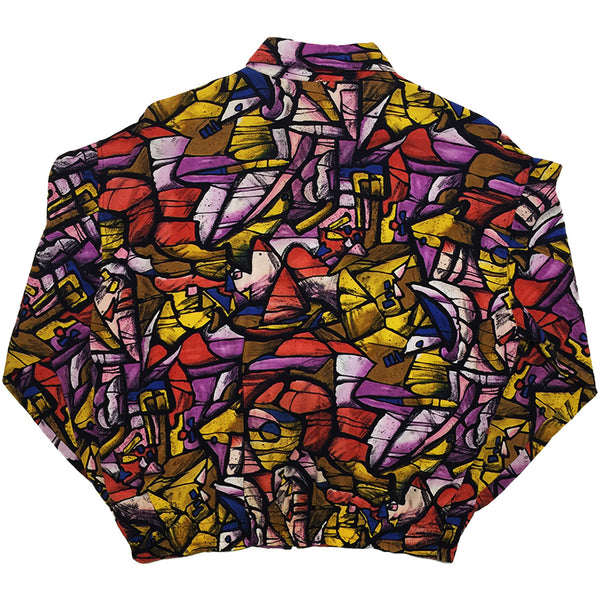 Abstract Pattern Red, Purple, Yellow Light Jacket