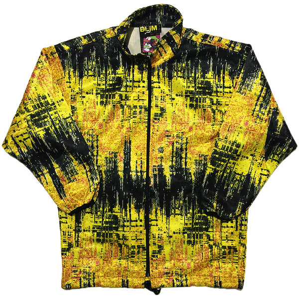 Salomon Yellow and Black Track Jacket