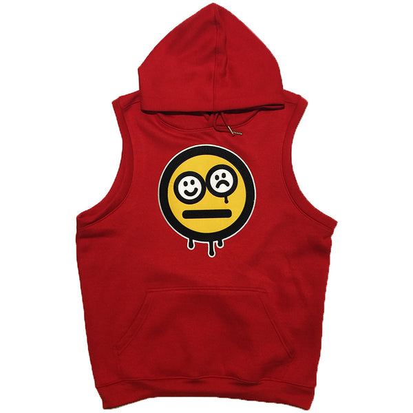 Destruct Red Sleeveless Hoodie