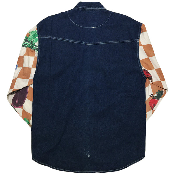 Vintage Form Seven Checkered Denim Jacket from Japan