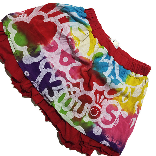 Kiitos Red and Rainbow Reversible Skirt