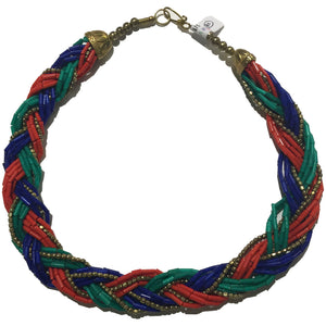 Red, Blue, Green, Gold Necklace