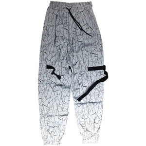 Elephant All Over Reflective Print Pants