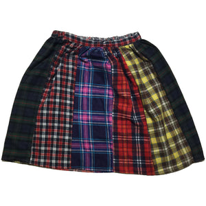 Candelicious Hand Made Multi Plaid Skirt