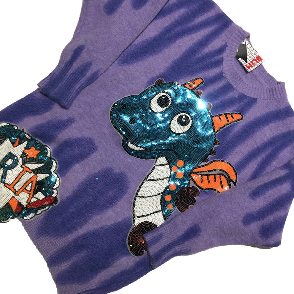 Dragon Sequin Wool Sweater
