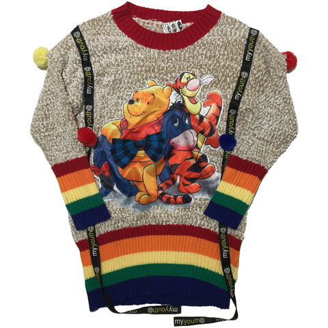 Rainbow Pooh & Friends Sweater