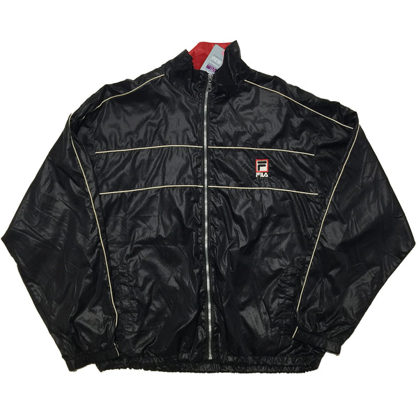 FILA Embroidered Logo Black Track Jacket