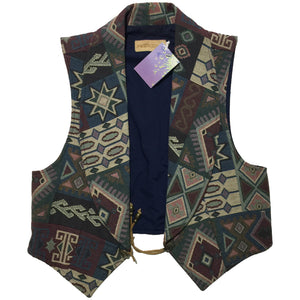 Sweet Grass Navajo All Over Print Vest