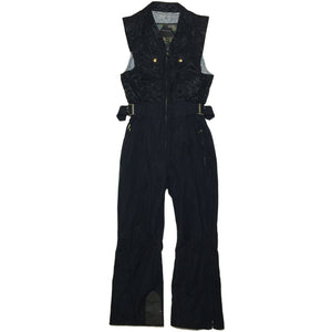 Windex Black Sleeveless Ski Suit