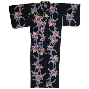 Lotus Flower Hand Painted Yukata