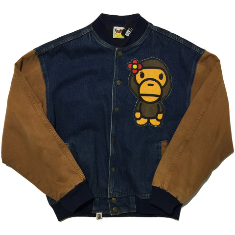 BAPE Denim Remake Stadium Jacket
