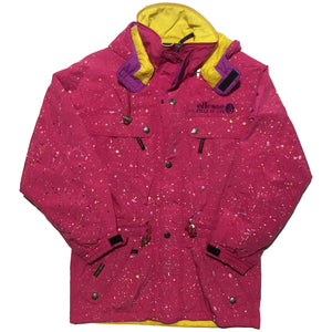 Ellesse Hand Splattered Pink and Yellow Jacket